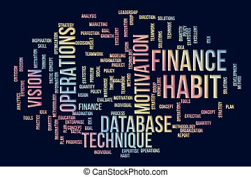 art, business, &, titre, résumé, créativité, arrière-plan., conception, mots, generative, numérique, nuage, communication.