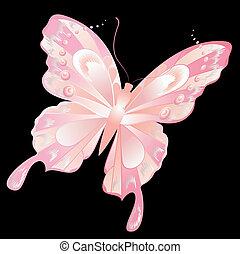 art butterfly flying