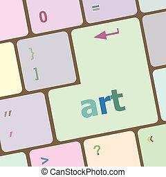 art button on computer keyboard key vector illustration