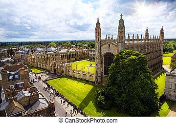 Art Cambridge University and Kings College Chapel -...
