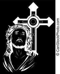 art, christ, figure, illustration, jésus, vecteur, conception
