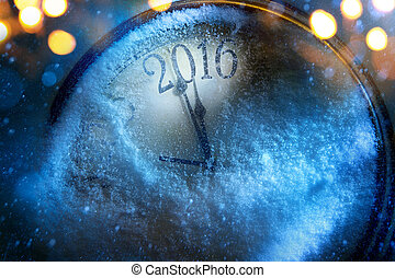 Art Christmas and New years clock 2016