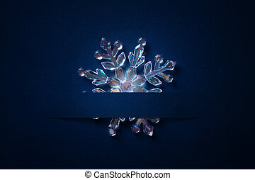 art Christmas background with a silver ornament, christmas stars