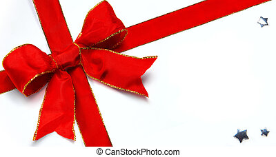Art Christmas decoration red bow