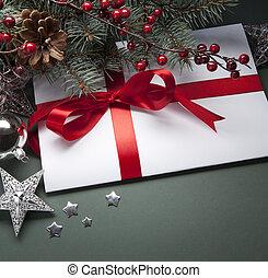 Art Christmas greeting card - Christmas decorations (live...