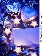Art Christmas greeting card - Christmas greeting card with...