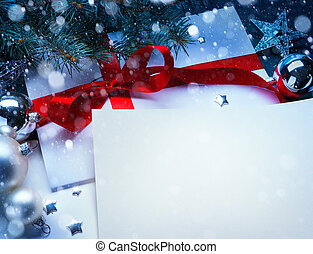 Art Christmas greeting card - Christmas greeting card with a...
