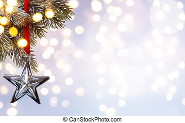 art Christmas holiday background; tree light