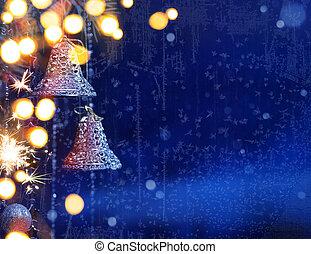 art christmas lights background