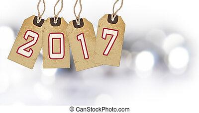Art Christmas, New Year 2017 decoration