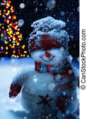 art christmas snowman