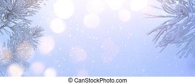 Art Christmas tree  light;  Xmas banner background