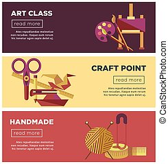 Art class, craft point and handmade projects Internet pages
