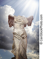 art, classique, grec, victoire, samotracia's, sculpture