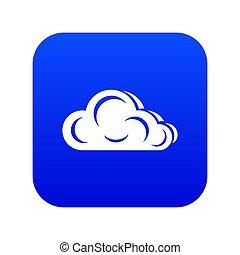Art cloud icon blue