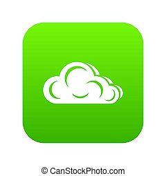 Art cloud icon green