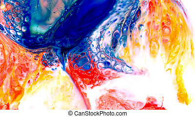 art, coloré, beauté, peinture, résumé, éclater, fantasme, diffusion, encre