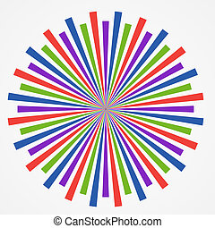 art, coloré, résumé, illustratio, arrière-plan., vecteur, psychédélique