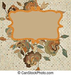 art, coloré, vendange, eps, arrière-plan., floral 8