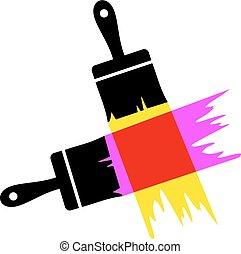 art color brush paint