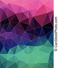 Art color triangle background