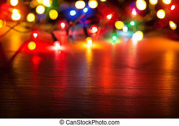 art Colorful lights on red background