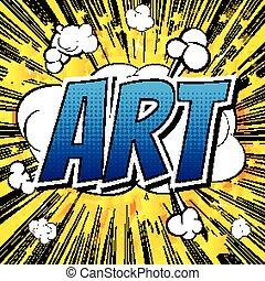 Art - Comic book style word
