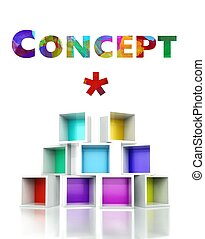 Art concept colorful 3d design illustration