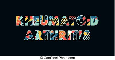 art, concept, mot, illustration, rhumatoïde