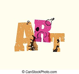 Art Concept Stamped Word Art Illustration