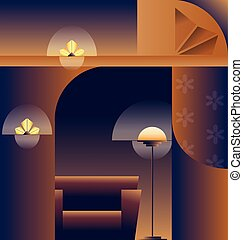 Art Deco abstract background design