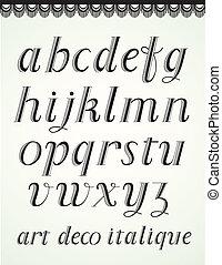 Art Deco Alphabet, Italique Small Caps