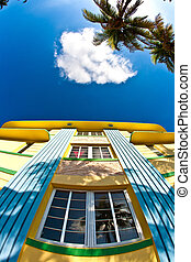 art deco architecture at ocean drive in miami - art deco...