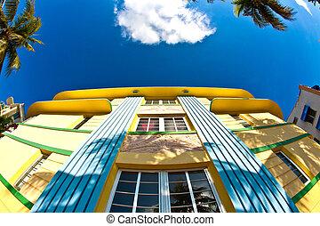 art deco architecture at ocean drive in miami - art deco...