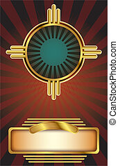 Art Deco background - Vector background in an Art Deco style...