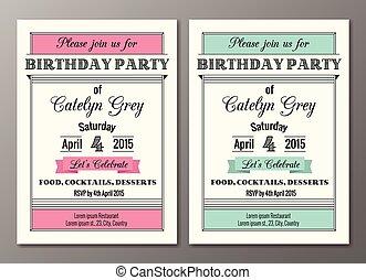 Art Deco Birthday Party Invitation