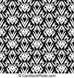 art deco black and white pattern