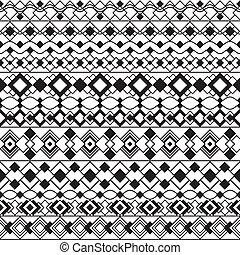 Art Deco Borders in Black and White