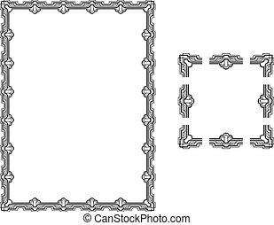 Art Deco borders - A Vector illustration of a Art Deco Style...