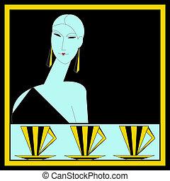 Art Deco Cafe Menu Template - A vintage art deco style Cafe ...