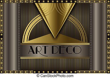 Art deco concept - Art deco geometric vintage frame for your...