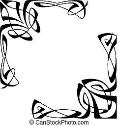 Art deco corners - vectorial image of two corners
