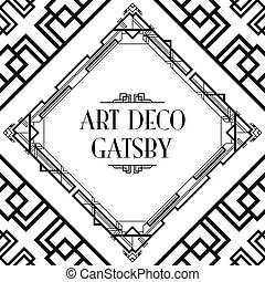art deco gatsby style background