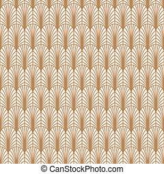 Art deco gold line geometric style pattern.