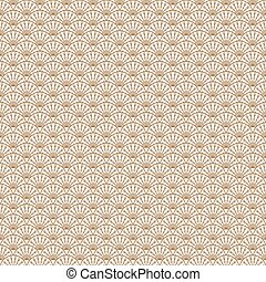 Art deco gold line scale geometric style pattern.