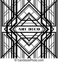 art deco grille, metallic abstract, geometric pattern in the...