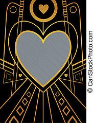 Art Deco Heart Border