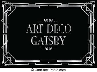 an art deco style invitation card