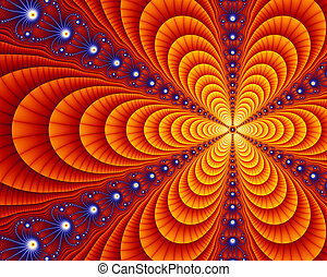 Small portion of the Juila set fractal, a mathematical equation resulting in infinitely repeating self-similar geometry.