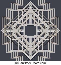 Art Deco Pattern Background. Vector